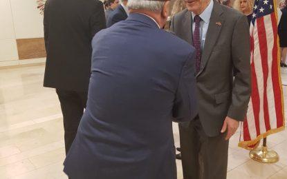 Reisi nė takimin lamtumirės tė ambasadorit Baily